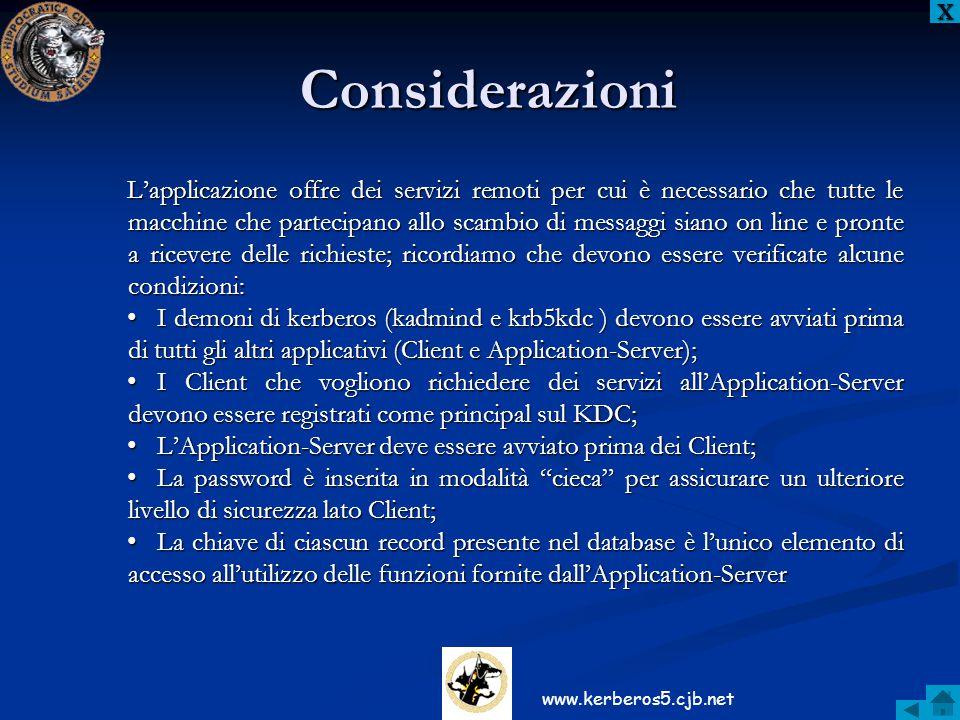 X Considerazioni.