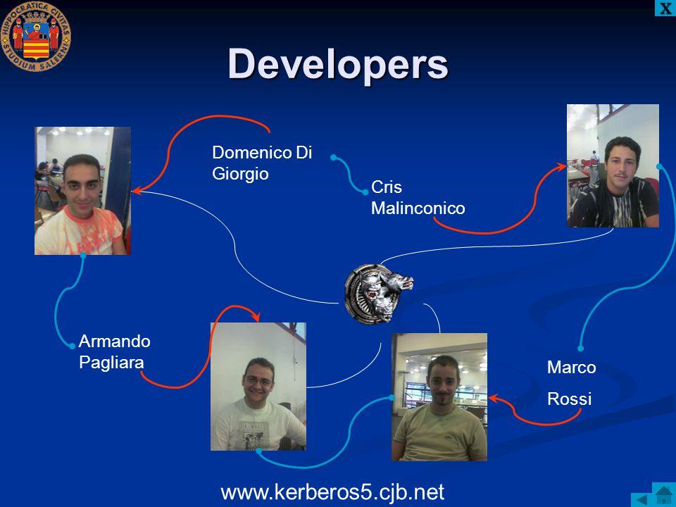 Developers www.kerberos5.cjb.net Domenico Di Giorgio Cris Malinconico