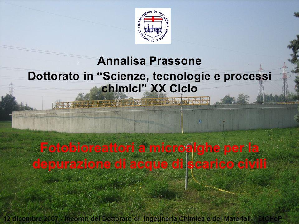 Dottorato in Scienze, tecnologie e processi chimici XX Ciclo