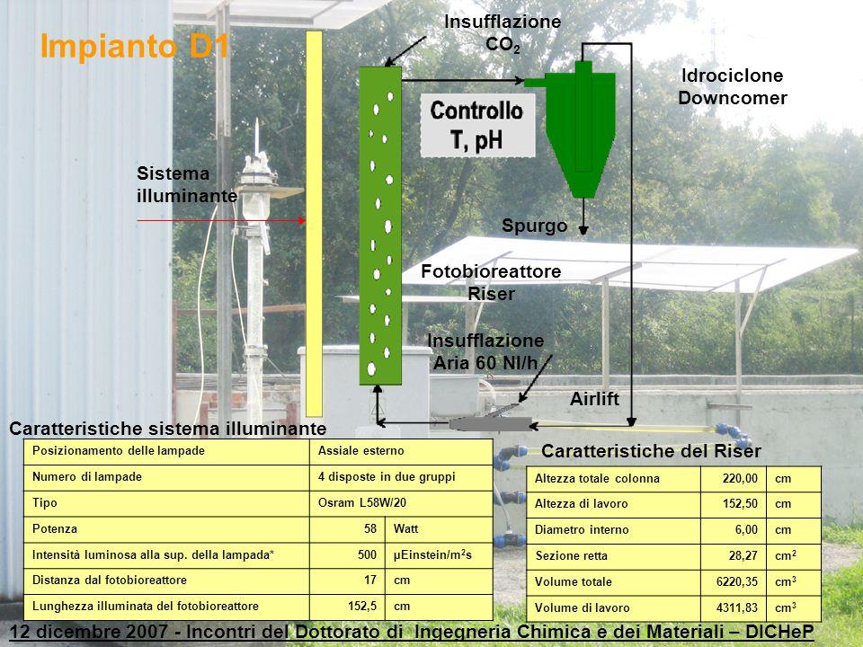 Impianto D1 Insufflazione CO2 Idrociclone Downcomer Sistema