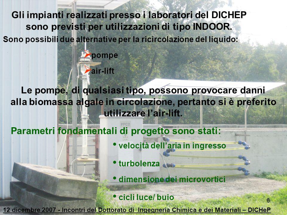 Gli impianti realizzati presso i laboratori del DICHEP