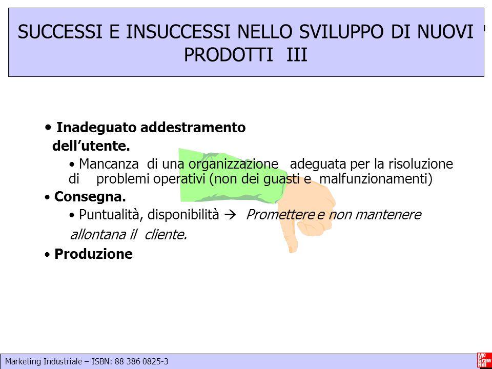SUCCESSI E INSUCCESSI NELLO SVILUPPO DI NUOVI PRODOTTI III