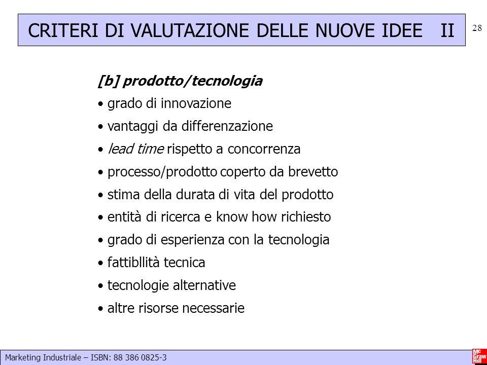 CRITERI DI VALUTAZIONE DELLE NUOVE IDEE II