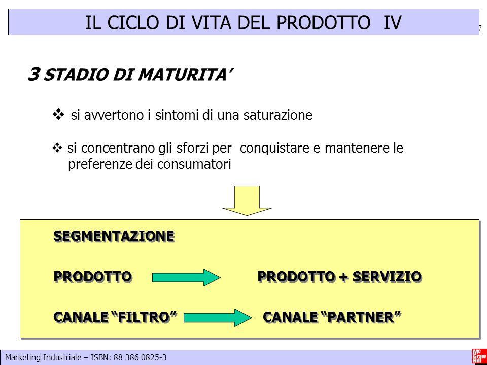 IL CICLO DI VITA DEL PRODOTTO IV