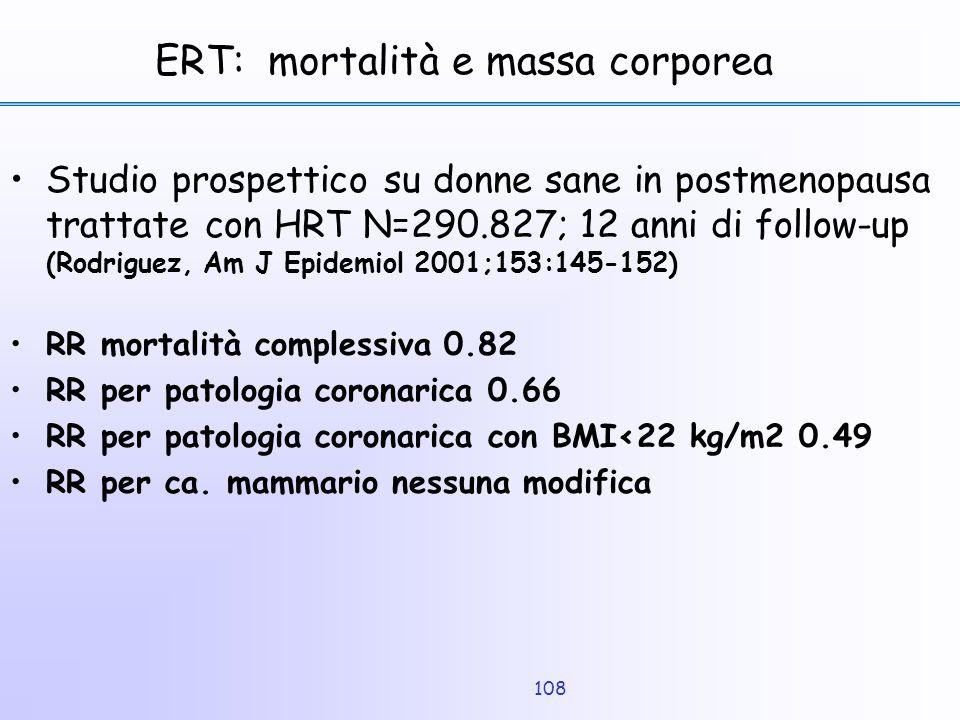 ERT: mortalità e massa corporea
