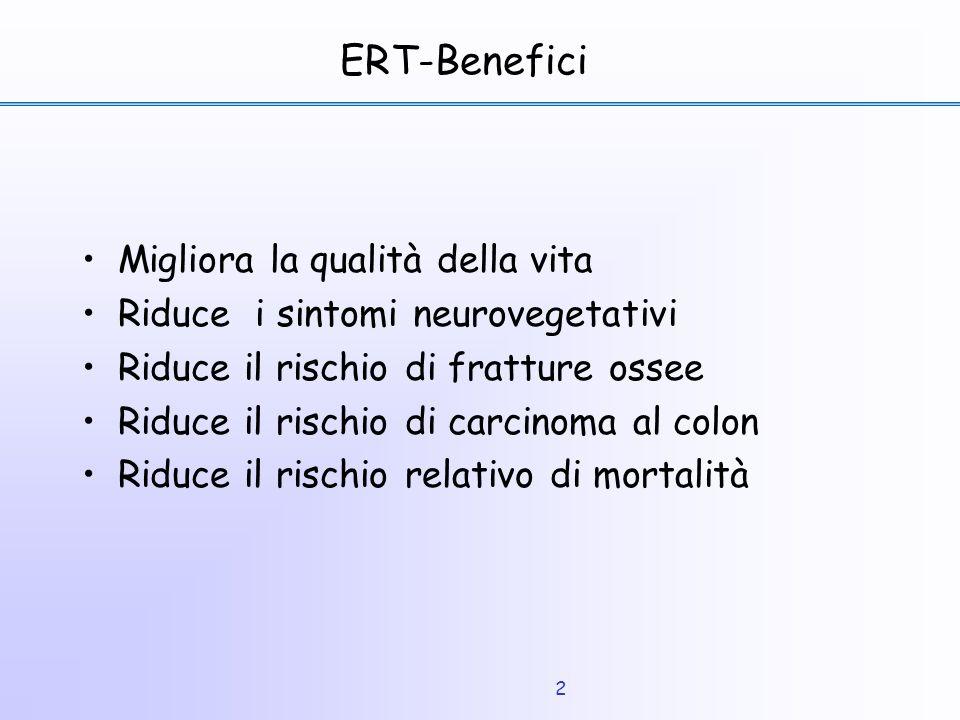 ERT-Benefici Migliora la qualità della vita