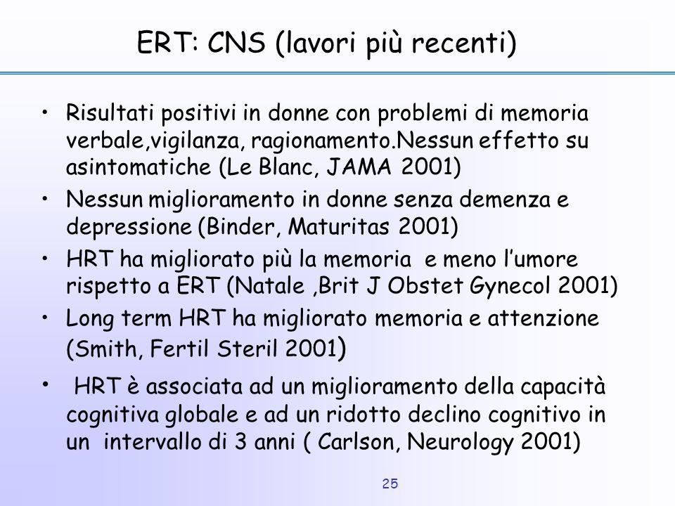 ERT: CNS (lavori più recenti)