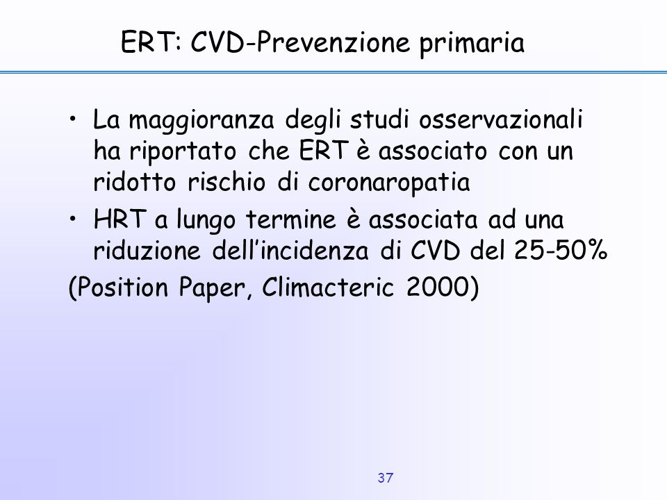 ERT: CVD-Prevenzione primaria