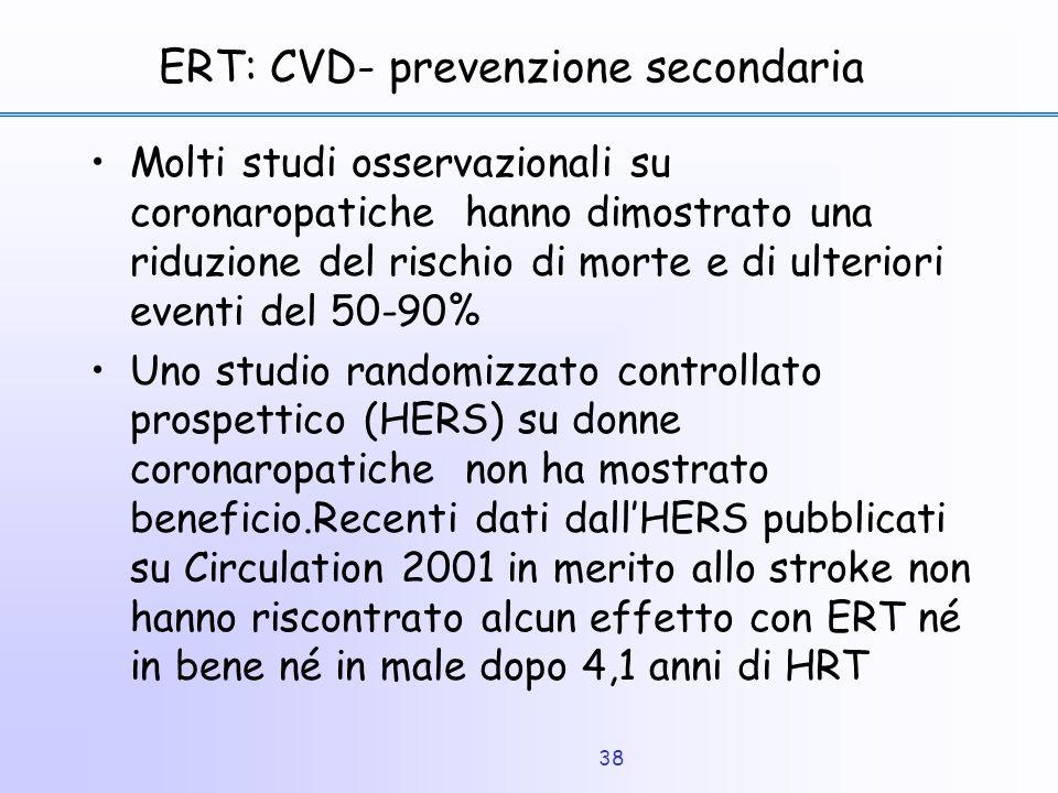 ERT: CVD- prevenzione secondaria