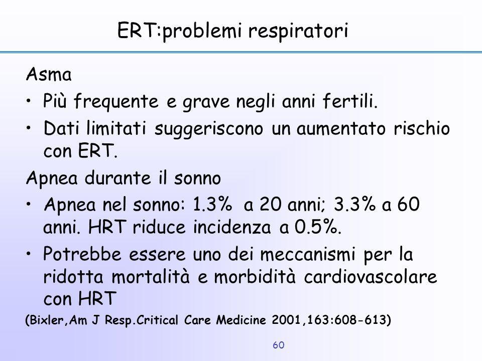 ERT:problemi respiratori