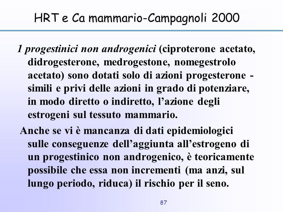 HRT e Ca mammario-Campagnoli 2000