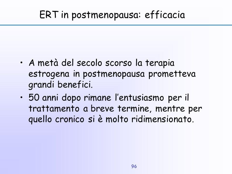 ERT in postmenopausa: efficacia