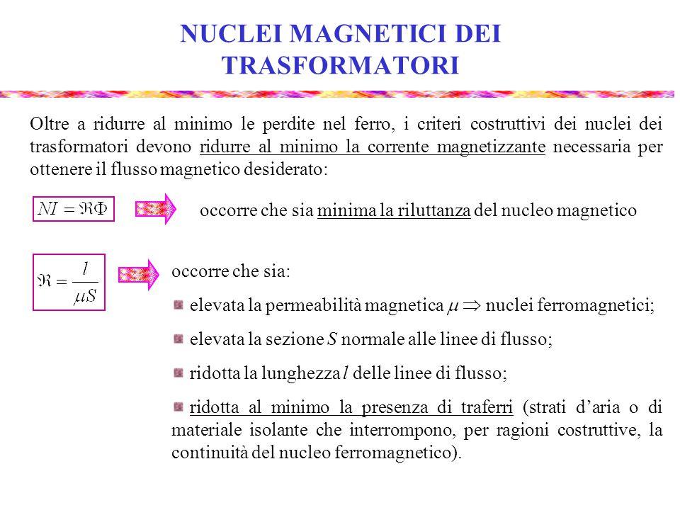 NUCLEI MAGNETICI DEI TRASFORMATORI