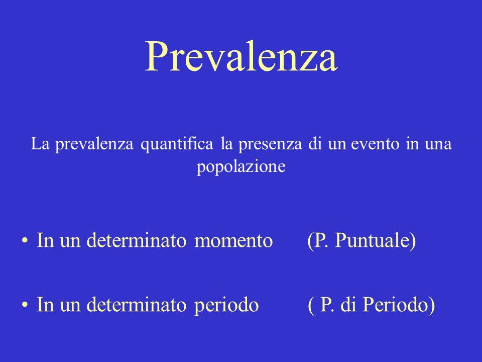 La prevalenza quantifica la presenza di un evento in una popolazione