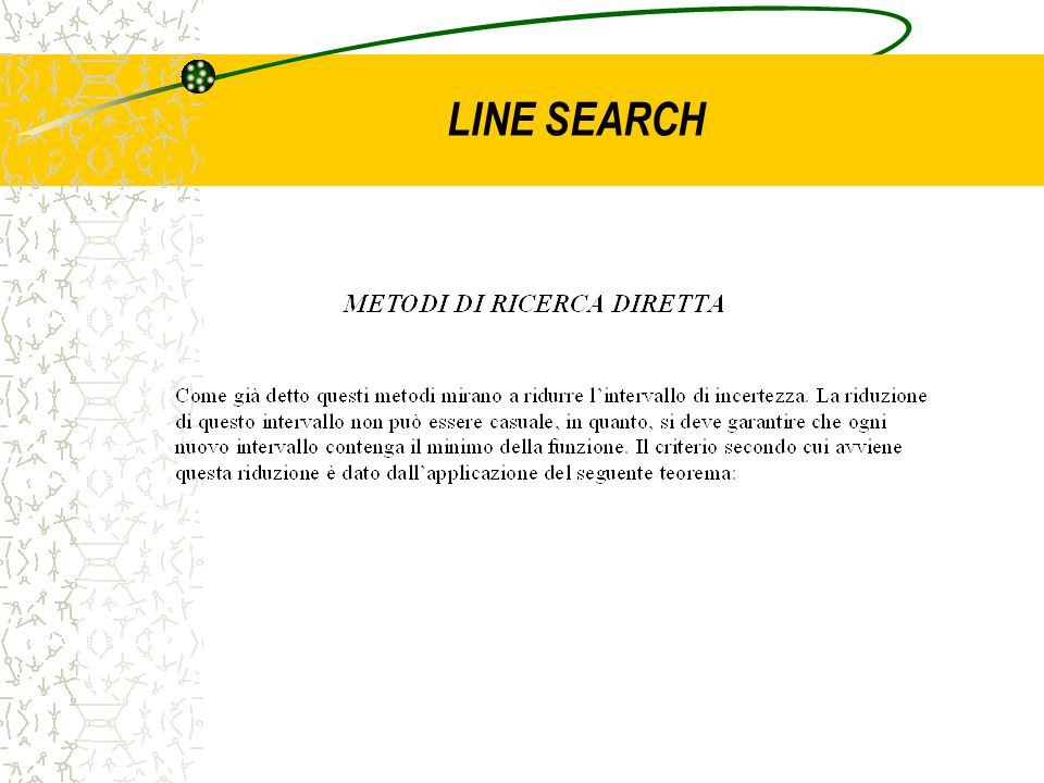 LINE SEARCH