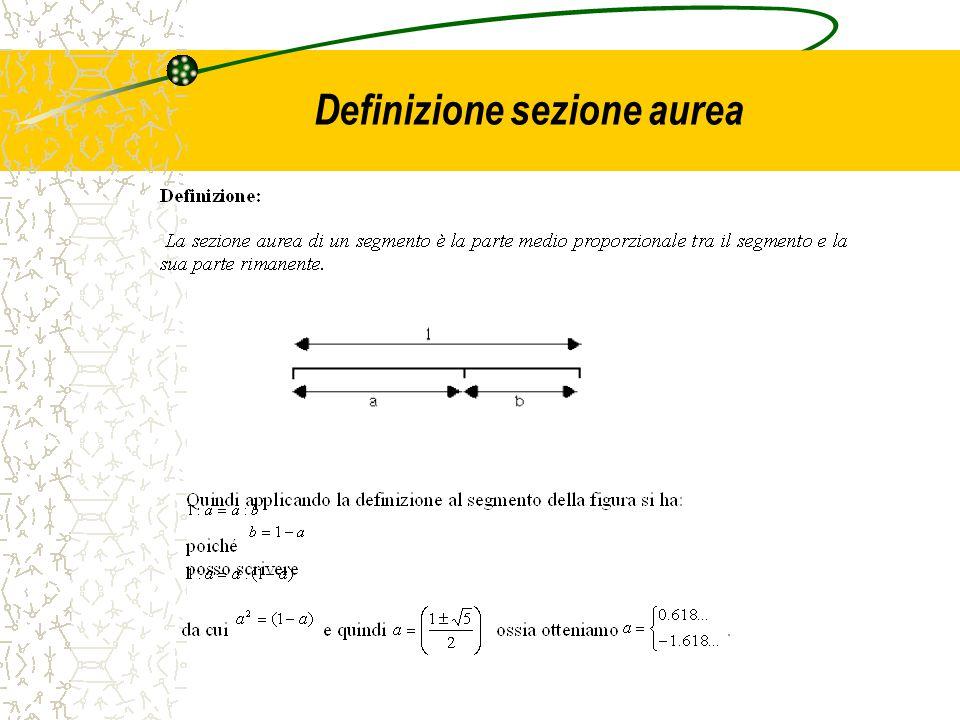 Definizione sezione aurea