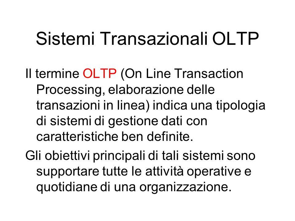 Sistemi Transazionali OLTP