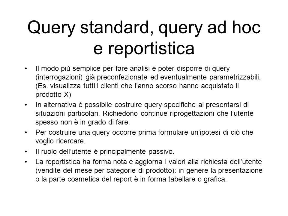 Query standard, query ad hoc e reportistica