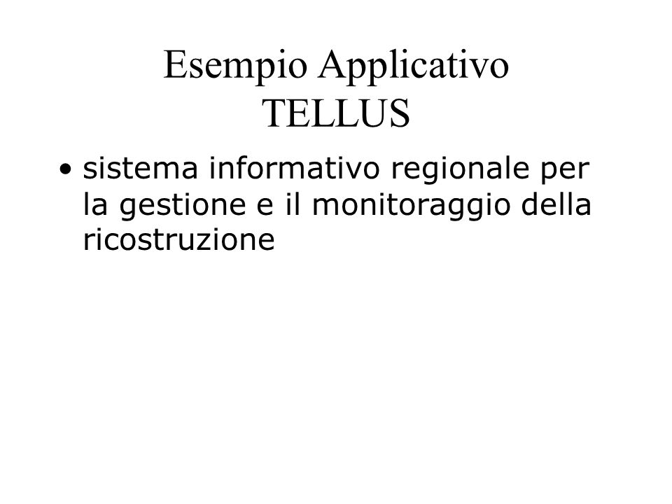 Esempio Applicativo TELLUS