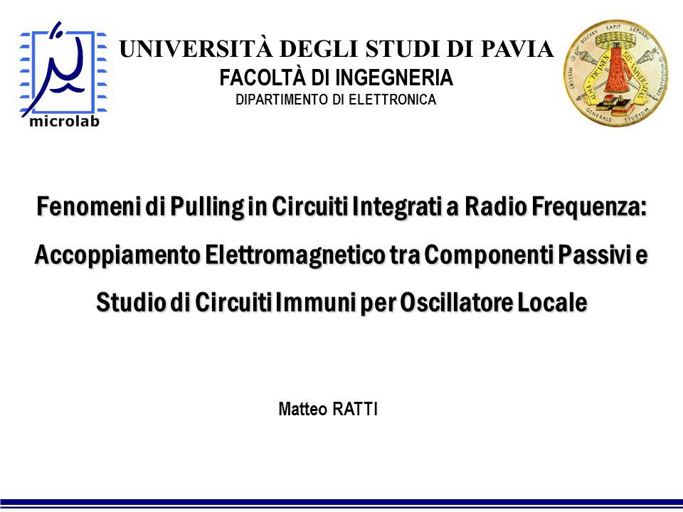 UNIVERSITÀ DEGLI STUDI DI PAVIA DIPARTIMENTO DI ELETTRONICA