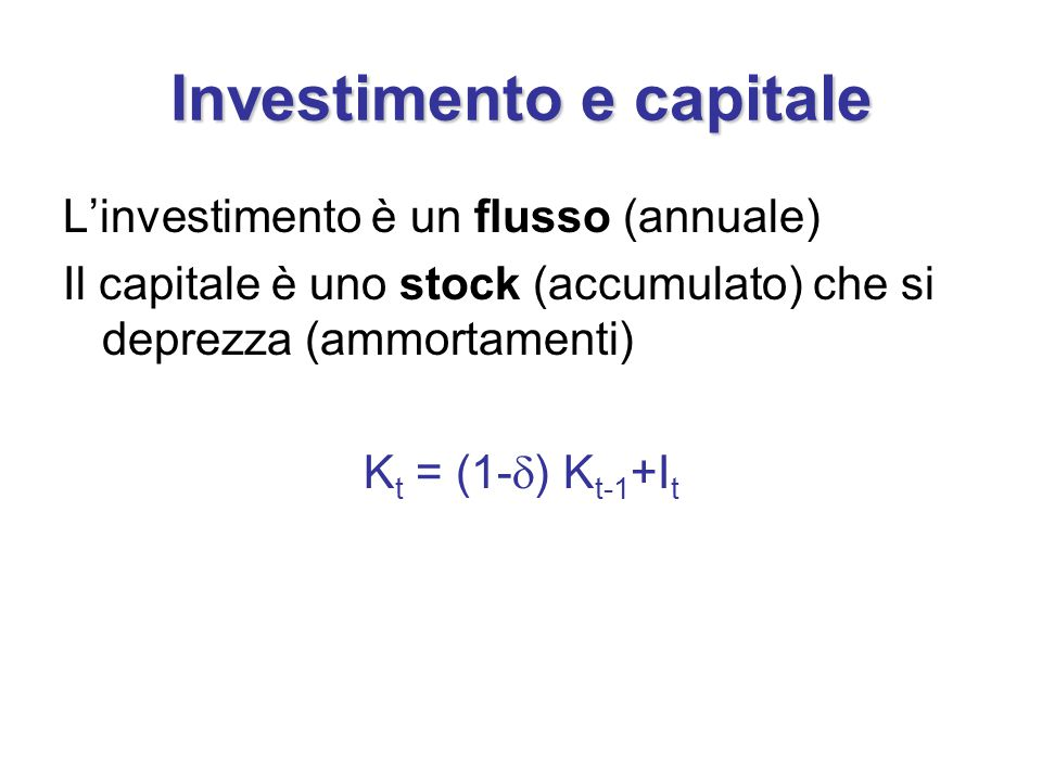 Investimento e capitale