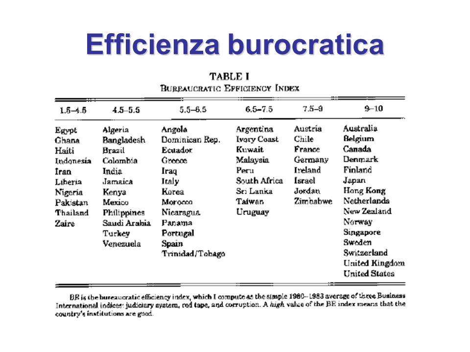 Efficienza burocratica