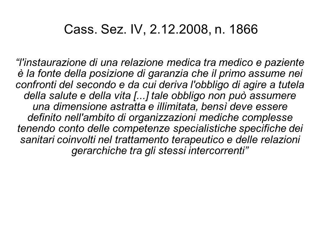 Cass. Sez. IV, 2.12.2008, n. 1866