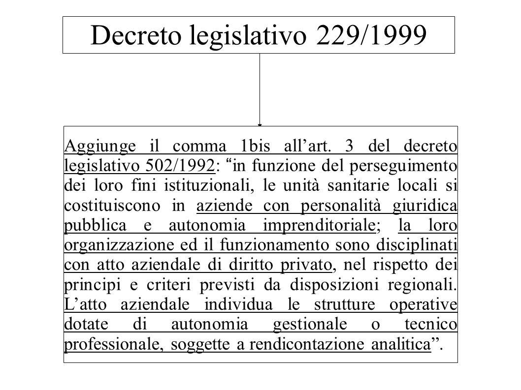Decreto legislativo 229/1999