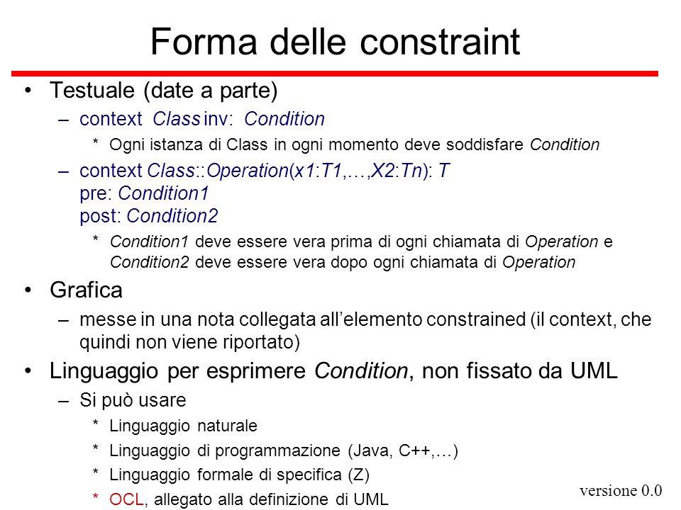 Forma delle constraint