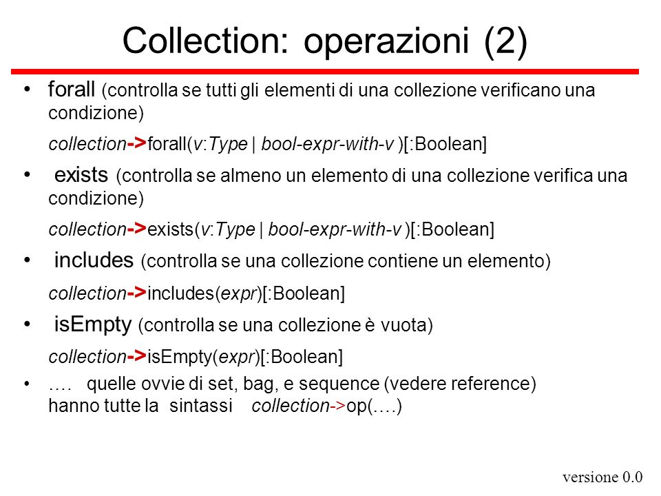 Collection: operazioni (2)