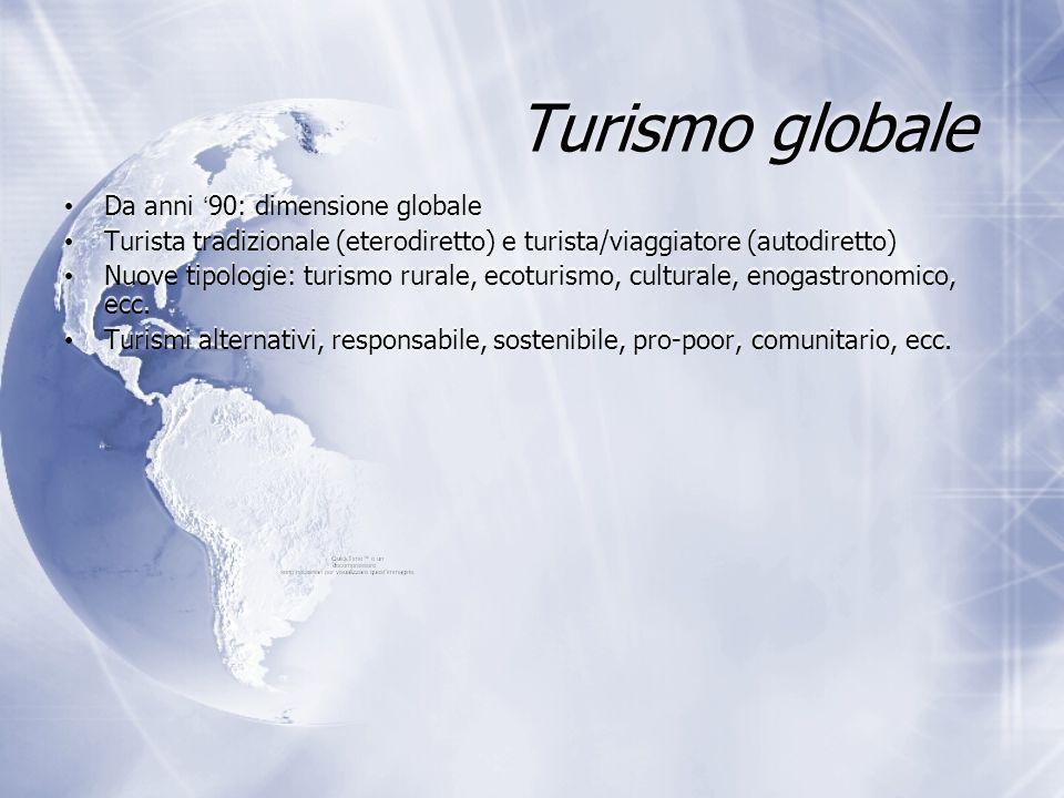 Turismo globale Da anni '90: dimensione globale