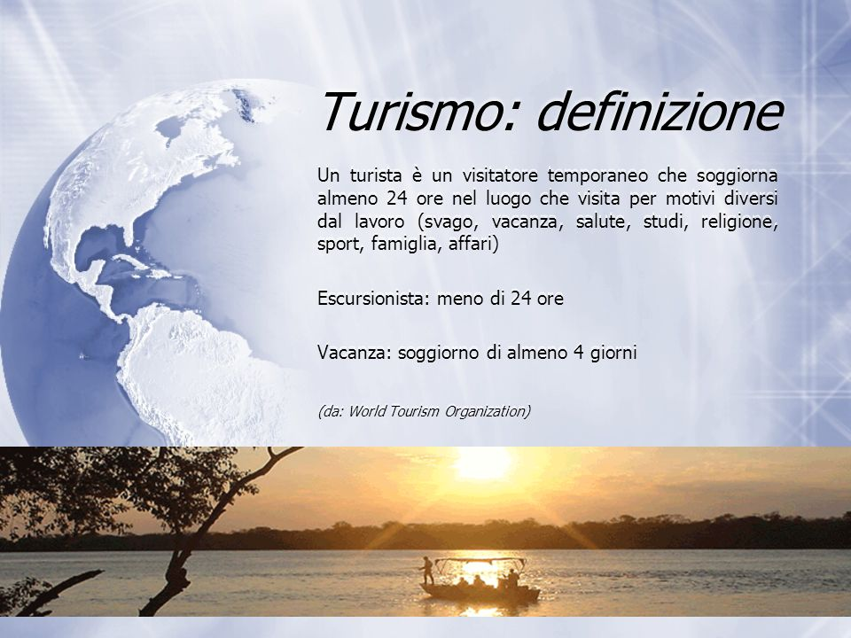 Turismo: definizione