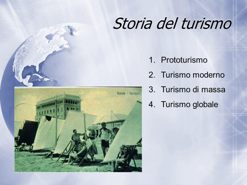 Storia del turismo Prototurismo Turismo moderno Turismo di massa