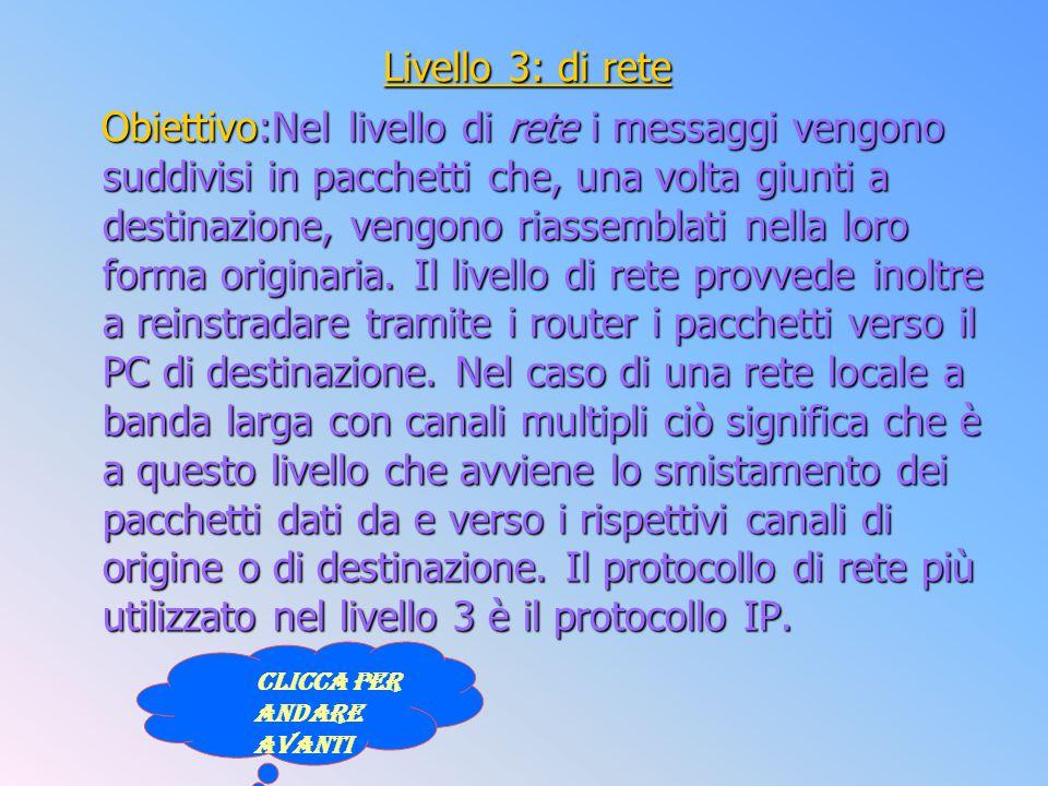 Livello 3: di rete