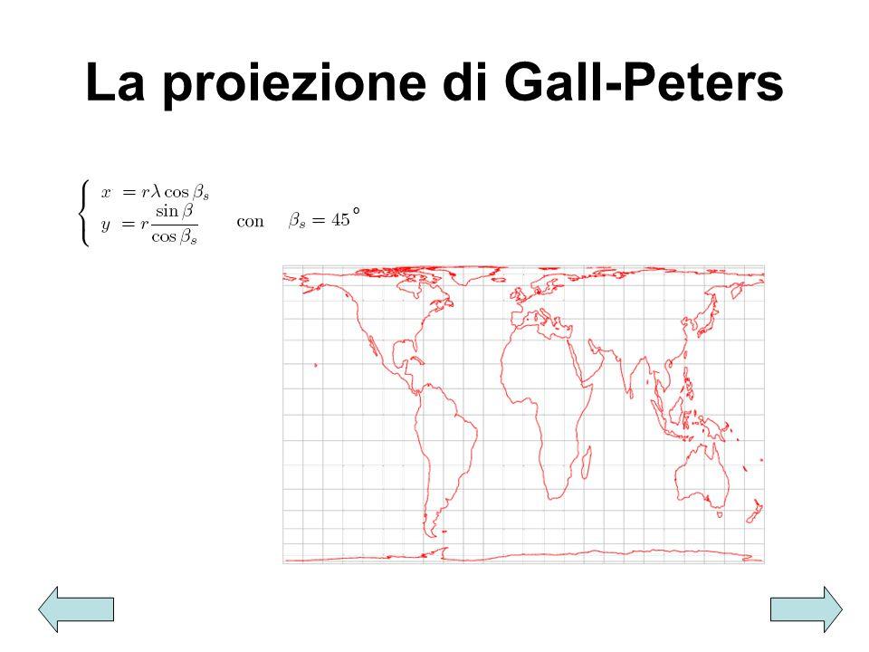 La proiezione di Gall-Peters