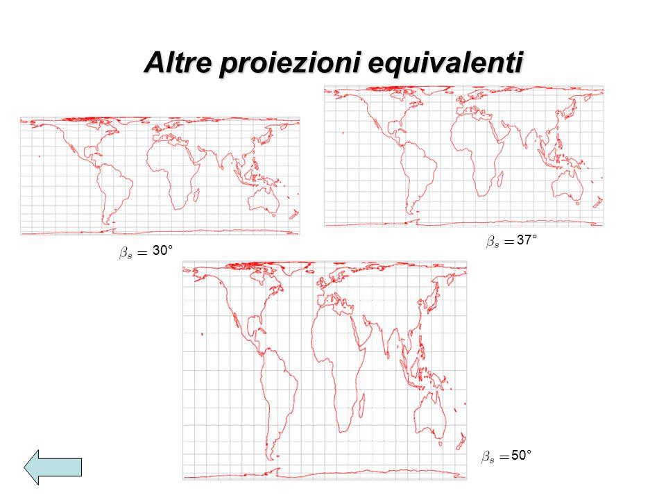 Altre proiezioni equivalenti