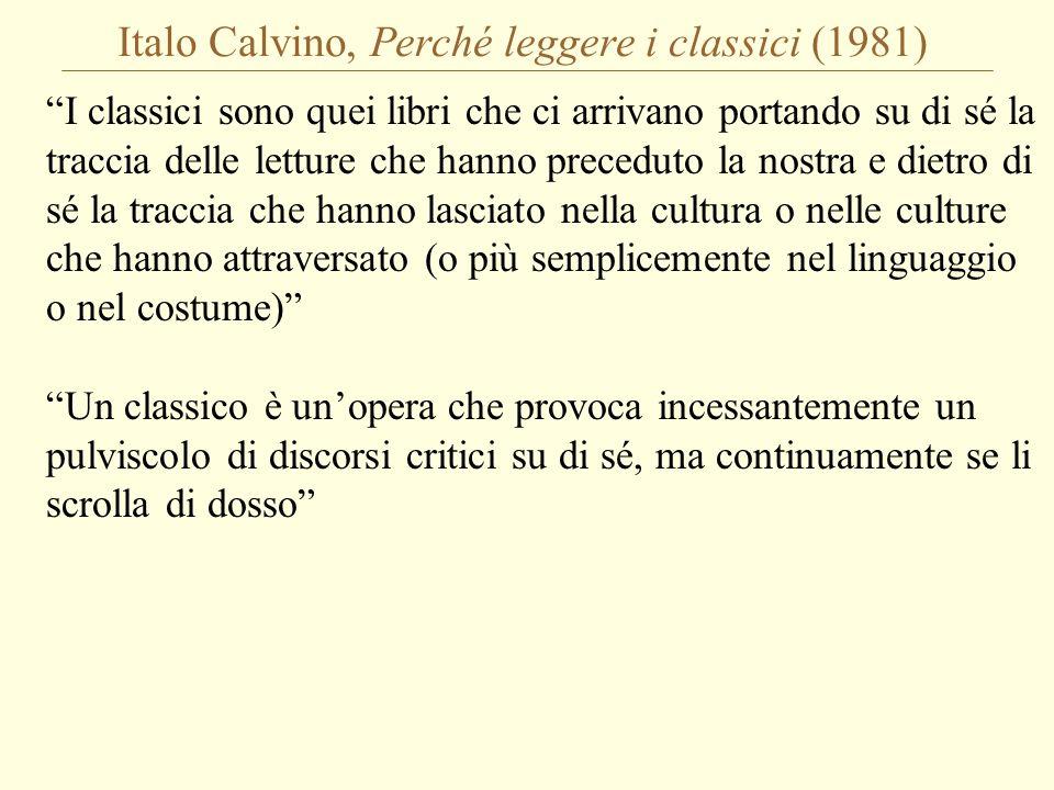 Italo Calvino, Perché leggere i classici (1981)