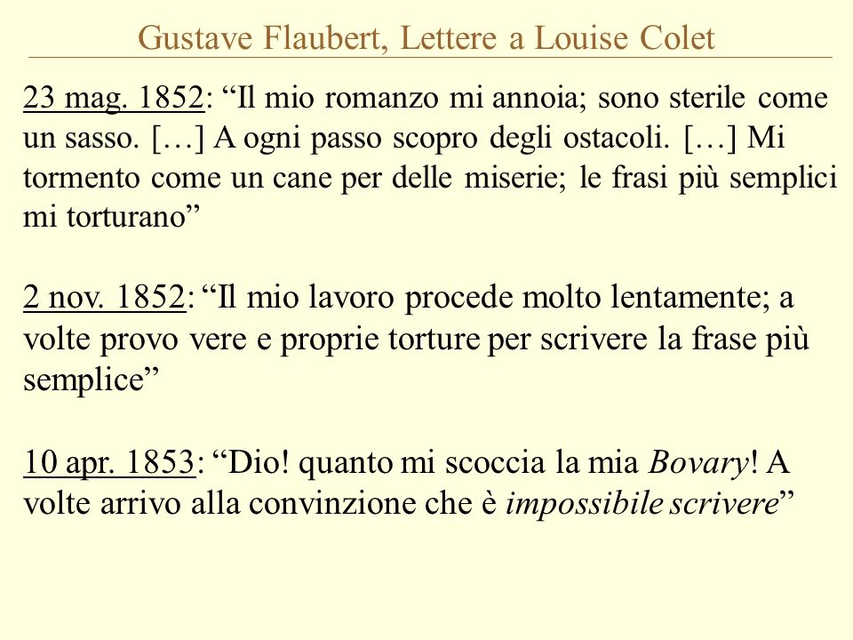 Gustave Flaubert, Lettere a Louise Colet