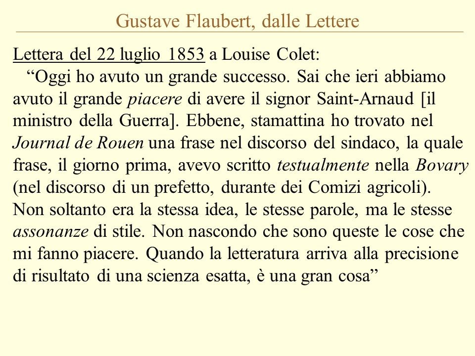 Gustave Flaubert, dalle Lettere