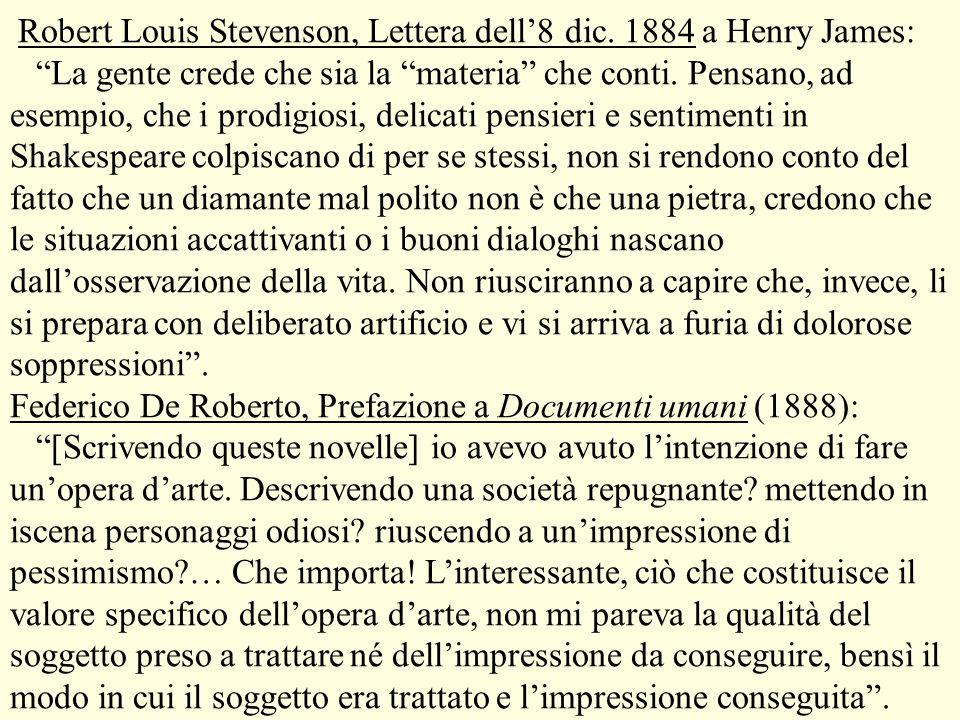 Robert Louis Stevenson, Lettera dell'8 dic