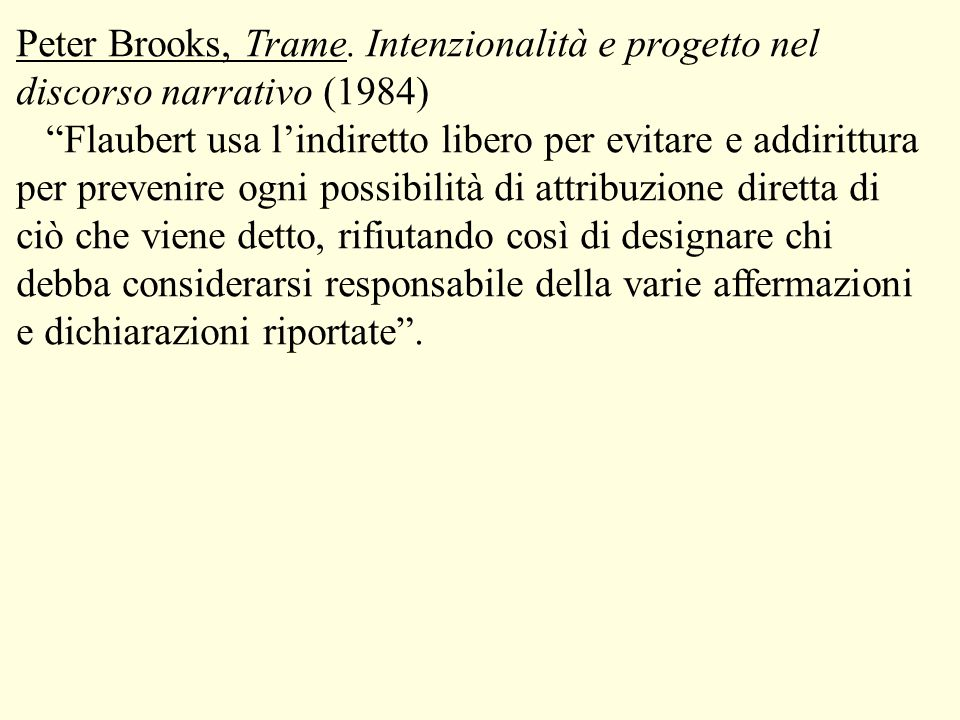Peter Brooks, Trame.