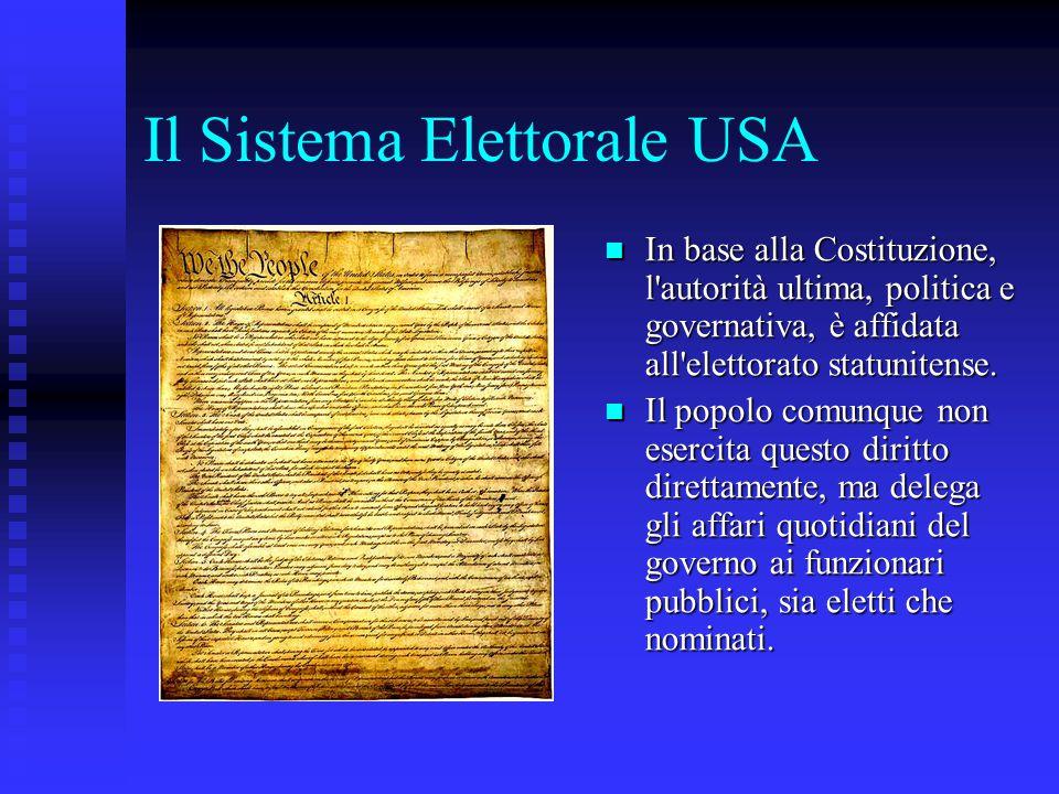 Il Sistema Elettorale USA