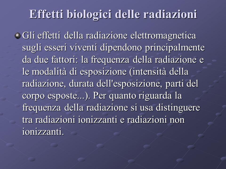Effetti biologici delle radiazioni