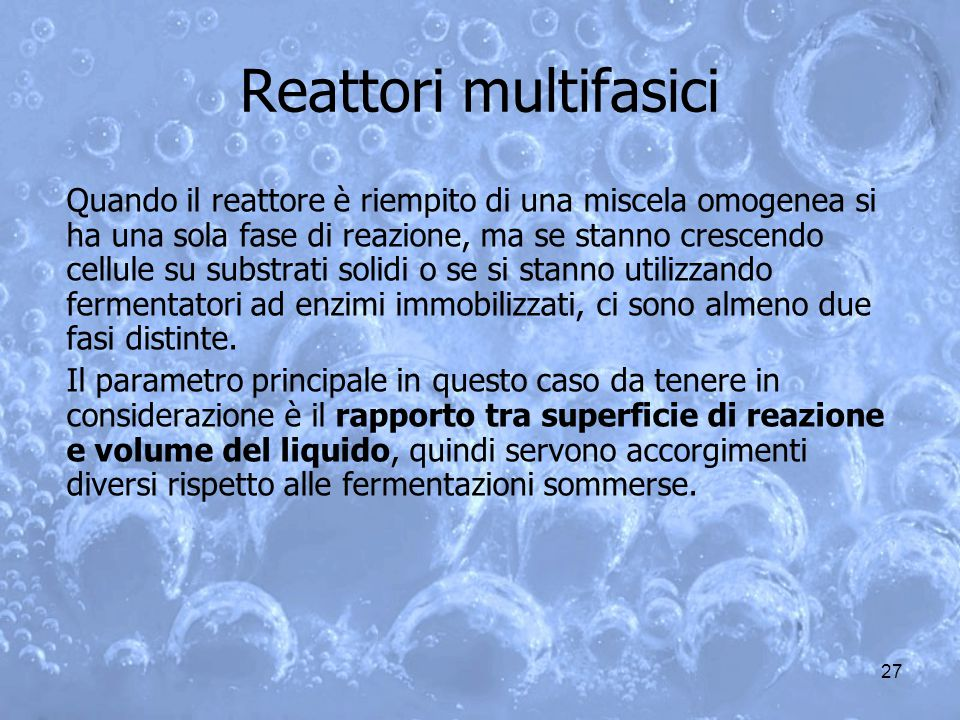 Reattori multifasici