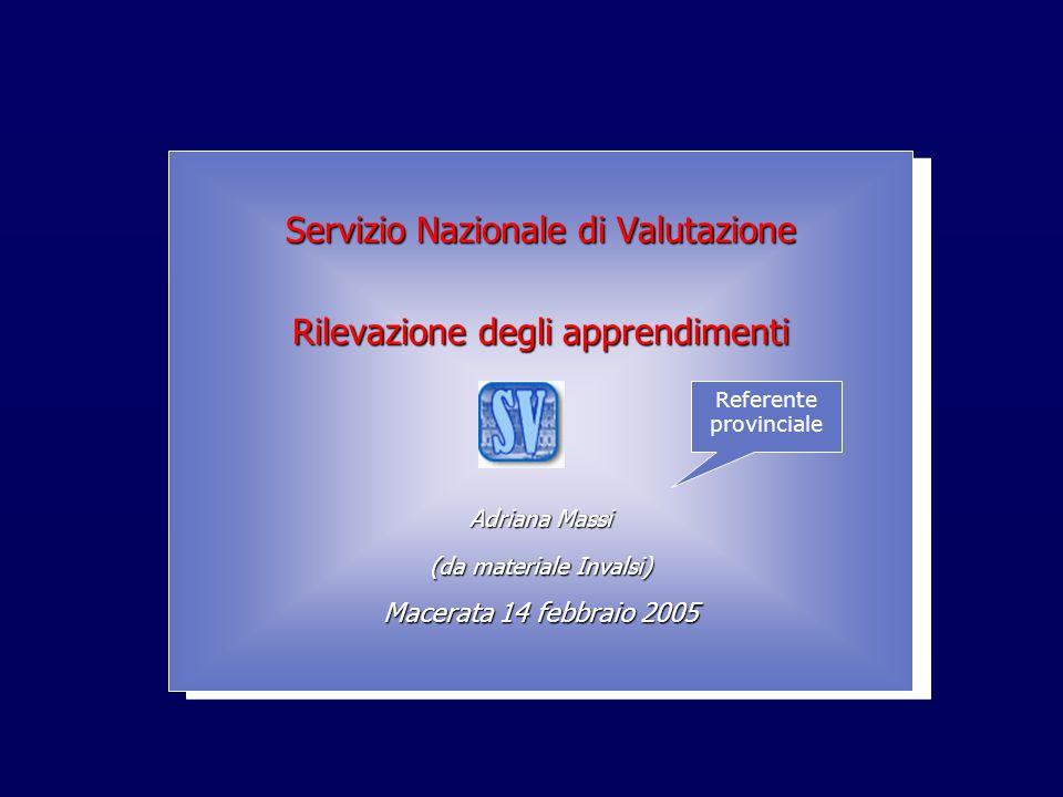 INValSI Servizio Nazionale di Valutazione