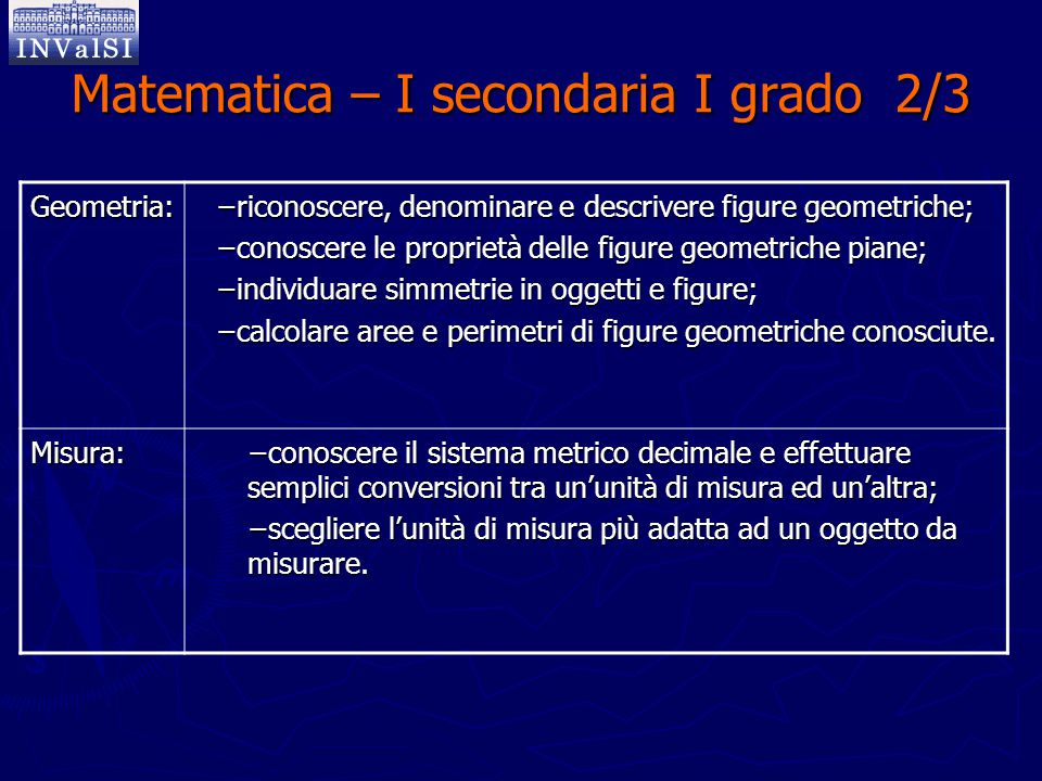 Matematica – I secondaria I grado 2/3