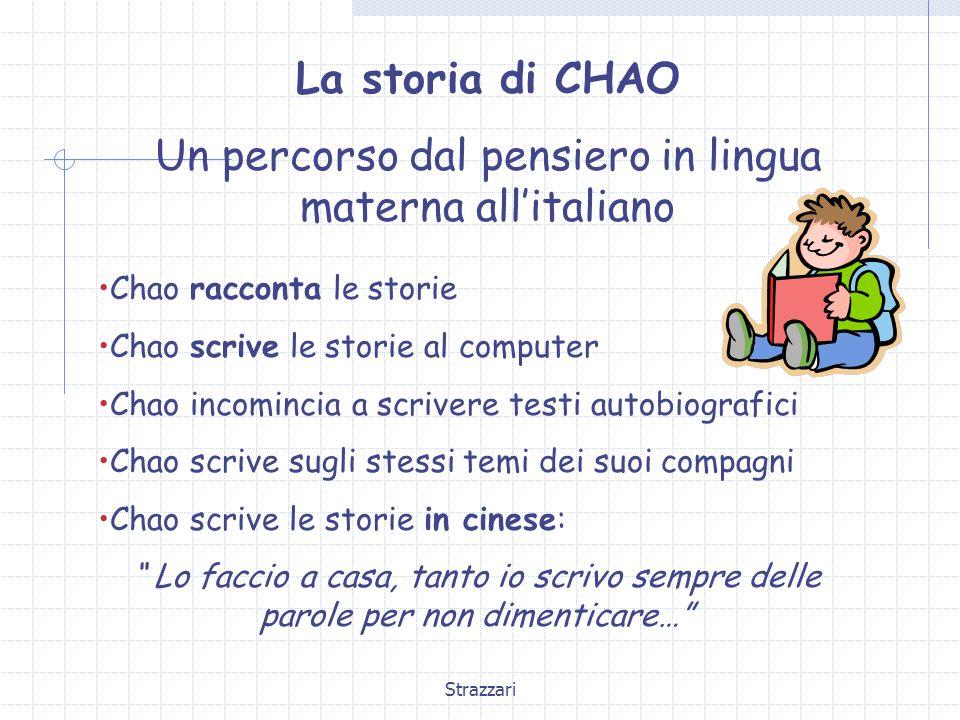 Un percorso dal pensiero in lingua materna all'italiano