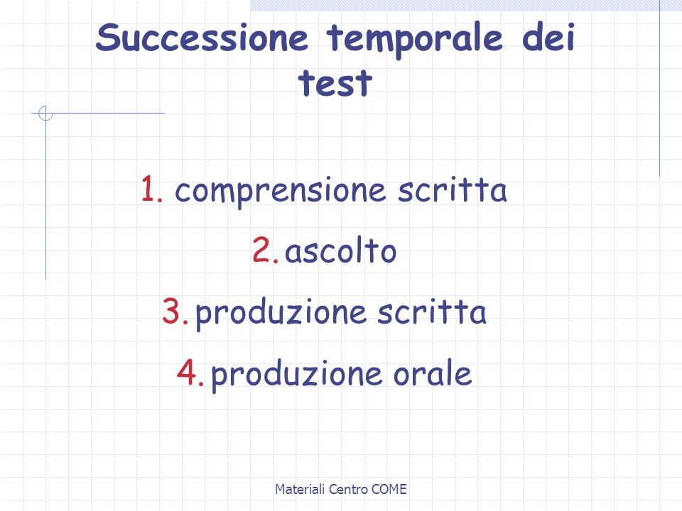 Successione temporale dei test