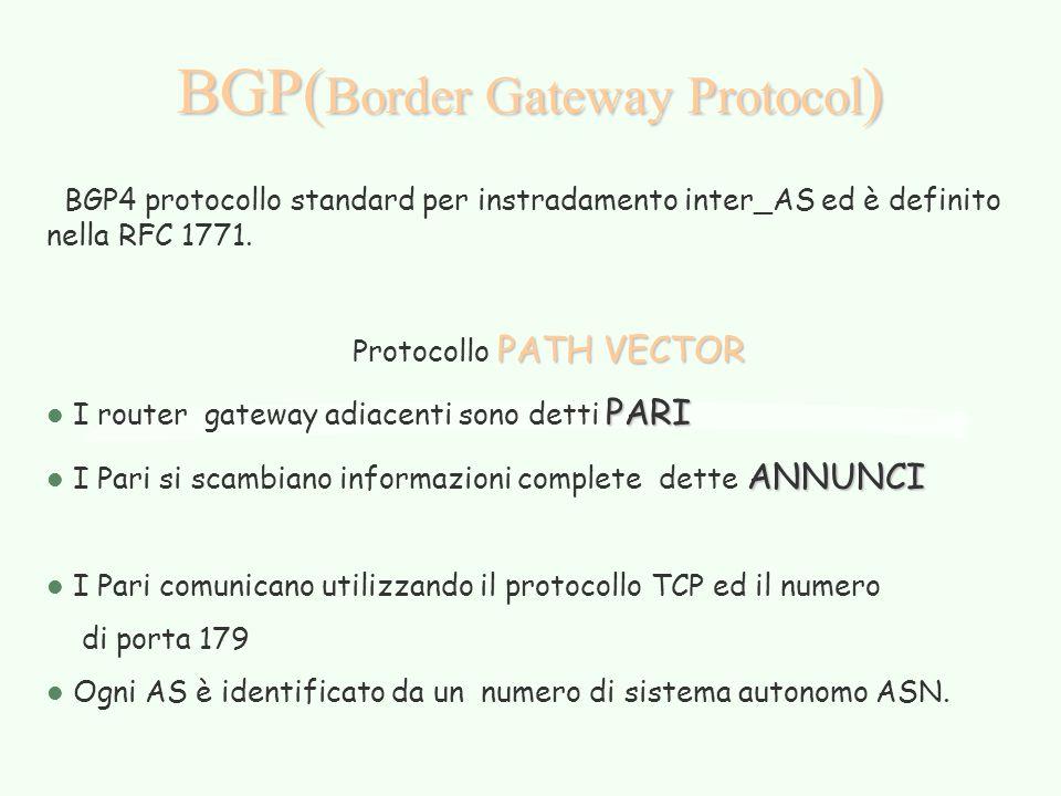 BGP(Border Gateway Protocol)