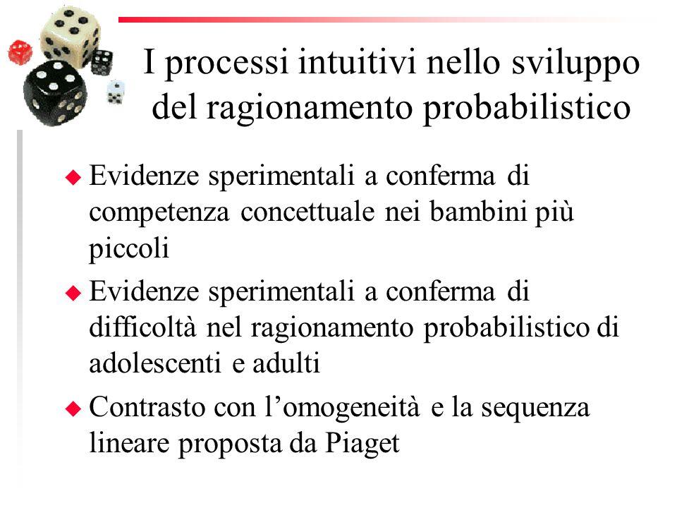 I processi intuitivi nello sviluppo del ragionamento probabilistico